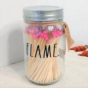 NWT Rae Dunn FLAME Mason Jar Matchsticks